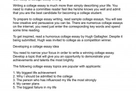 009 P1 Essay Example Life Impressive Experience Changing Ideas