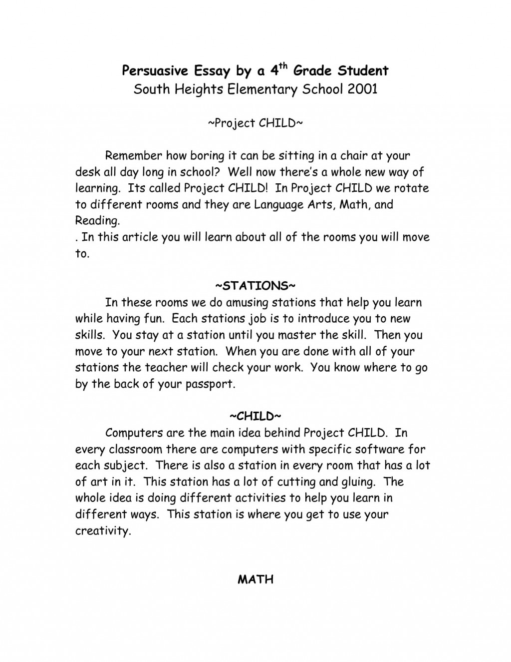 009 Persuasive Essays For Elementary Students Topics Essay How To Write An Opinion 4th Grade Letter Example Best Incredible Narrative Expository Large