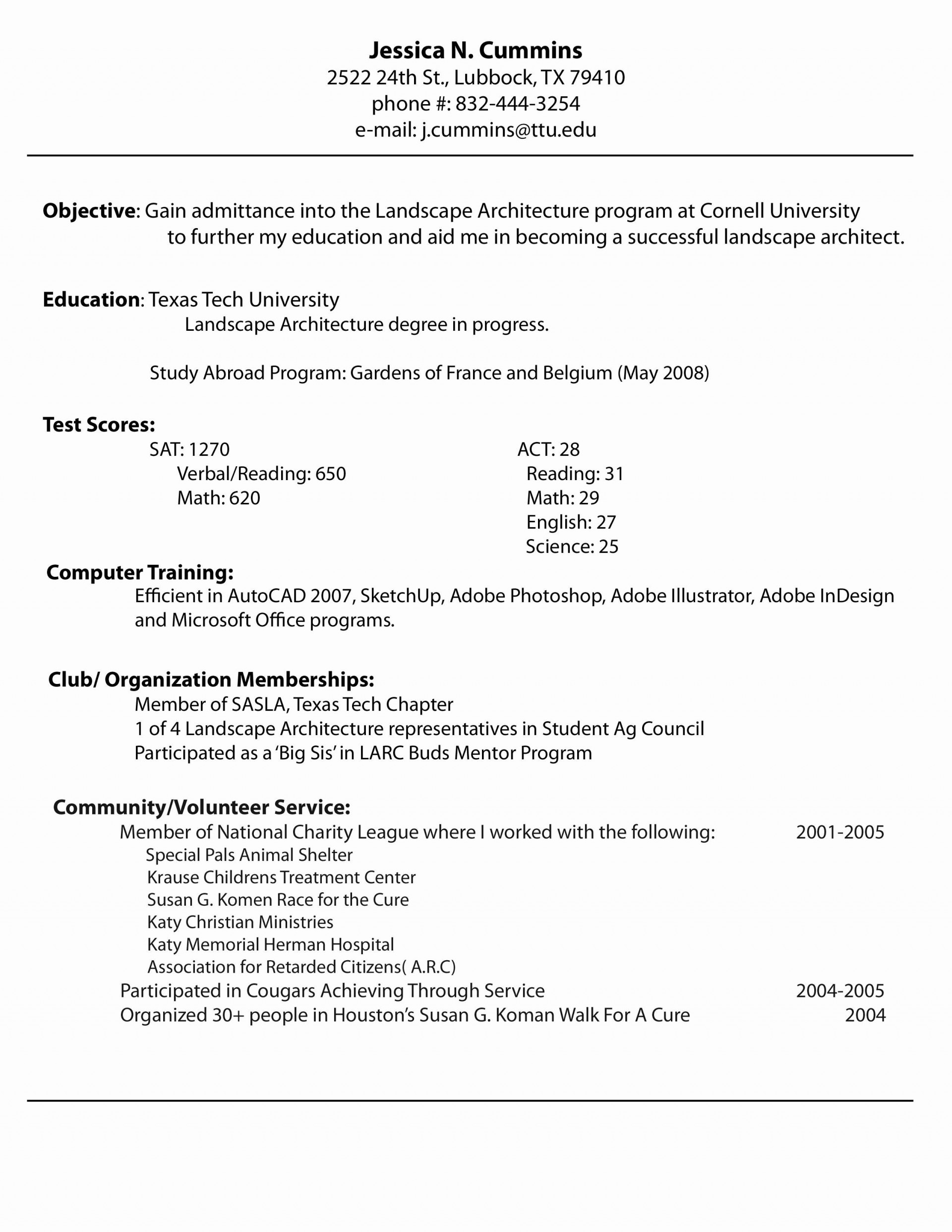 009 Quick Resume Builder Free New Autism Cover Letters