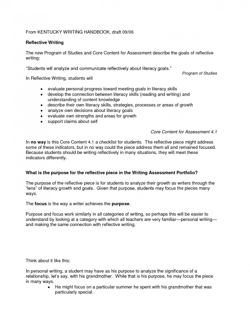 009 Reflective Essay Definition Example Nursing Writing 576466 Excellent Analysis Meaning In Telugu