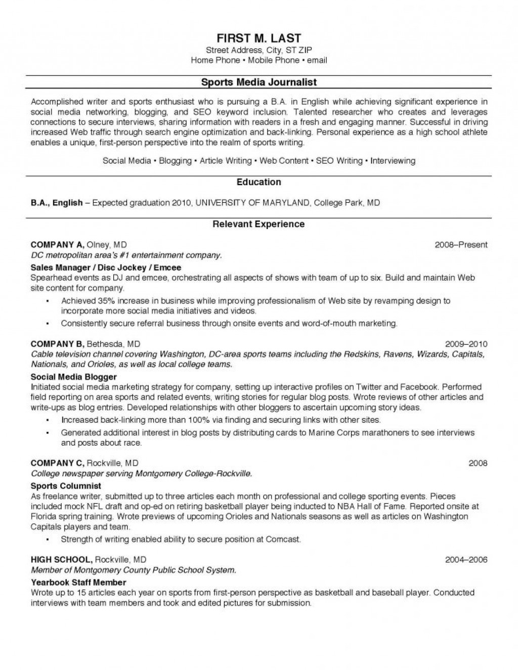 009 Resume Sample For College Students Example Student Template Http Of 791x1024 Descriptive Essay Exceptional Topics Writing Ibps Po Mains High School Prompts Large