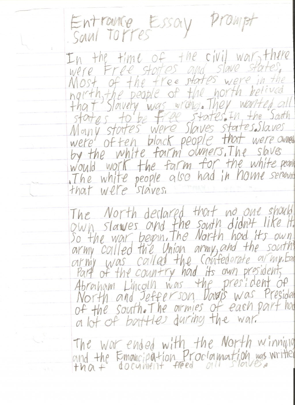 009 Saul Torres Essay Example 6th Grade Fantastic Examples Narrative Writing Literary Large
