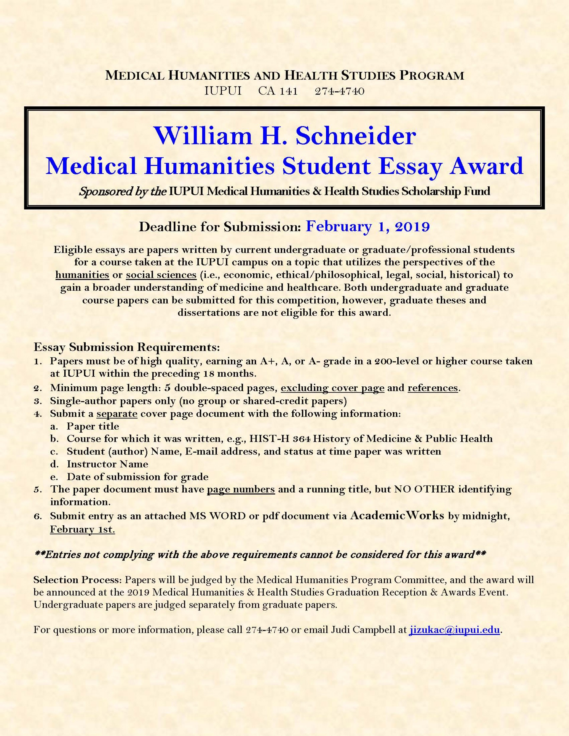 009 Schneider Essay Award Student Awesome Medical Competitions 2017 Database Template 1920