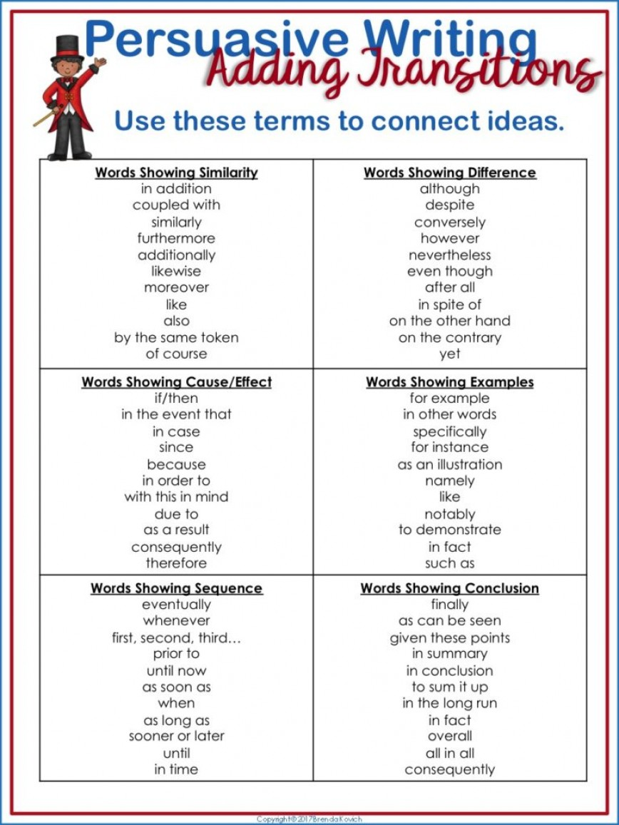 009 Slide1 768x1024 Persuasive Essay Transition Words Fearsome Writing Worksheet