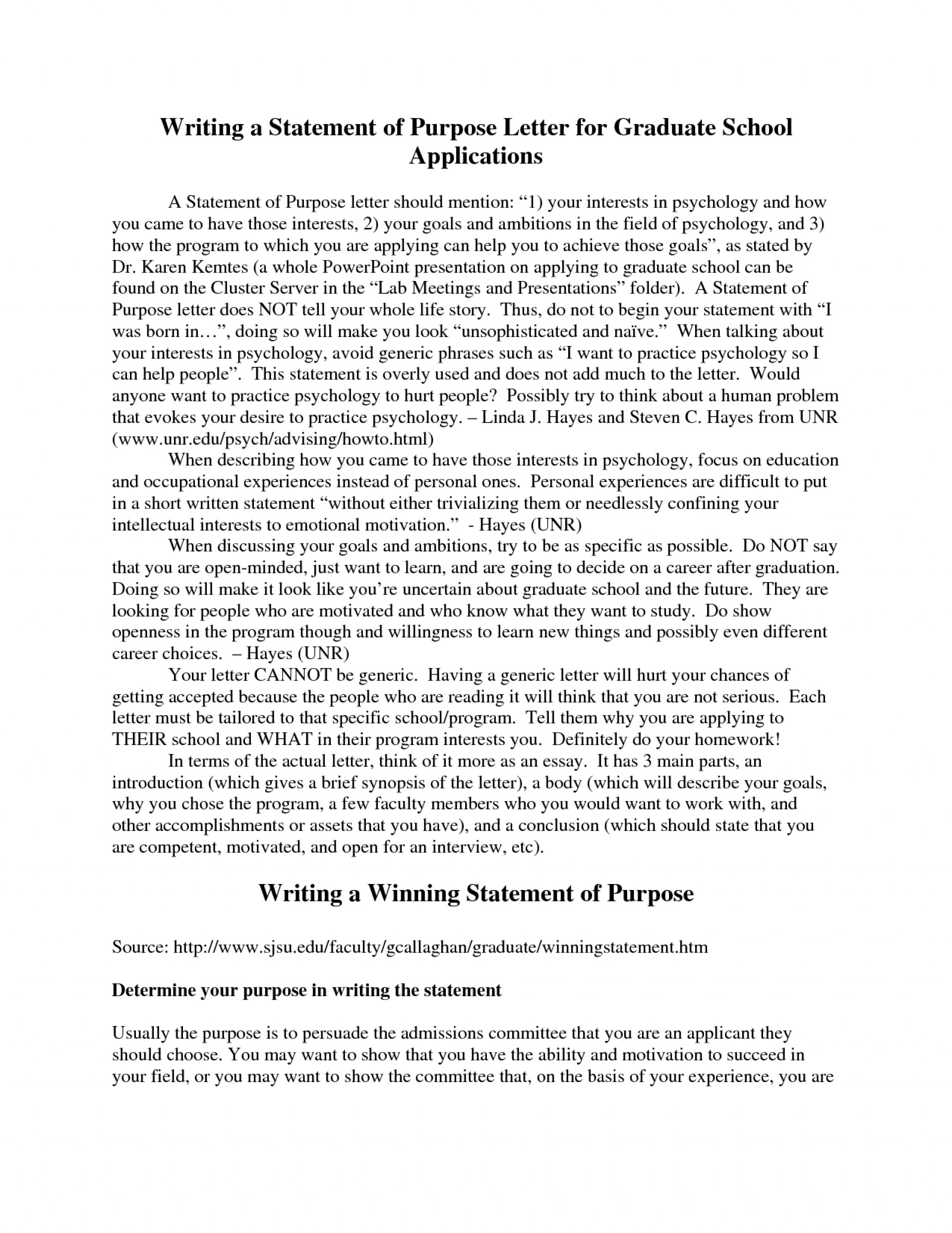 009 Statement Of Purpose Graduate School Sample Essays Personal Essay Examples High College Application Engineering Grad Template Zap Example Speech Pathology Social Top Education 1920