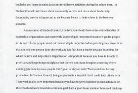 009 Student Council Essay Example Treasurer Noe Phenomenal Template For 5th Grade College