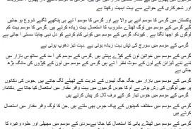 009 Summer2bseason2bin2burdu Essay Example Summer Frightening Vacation For Class 6 In Urdu On Marathi