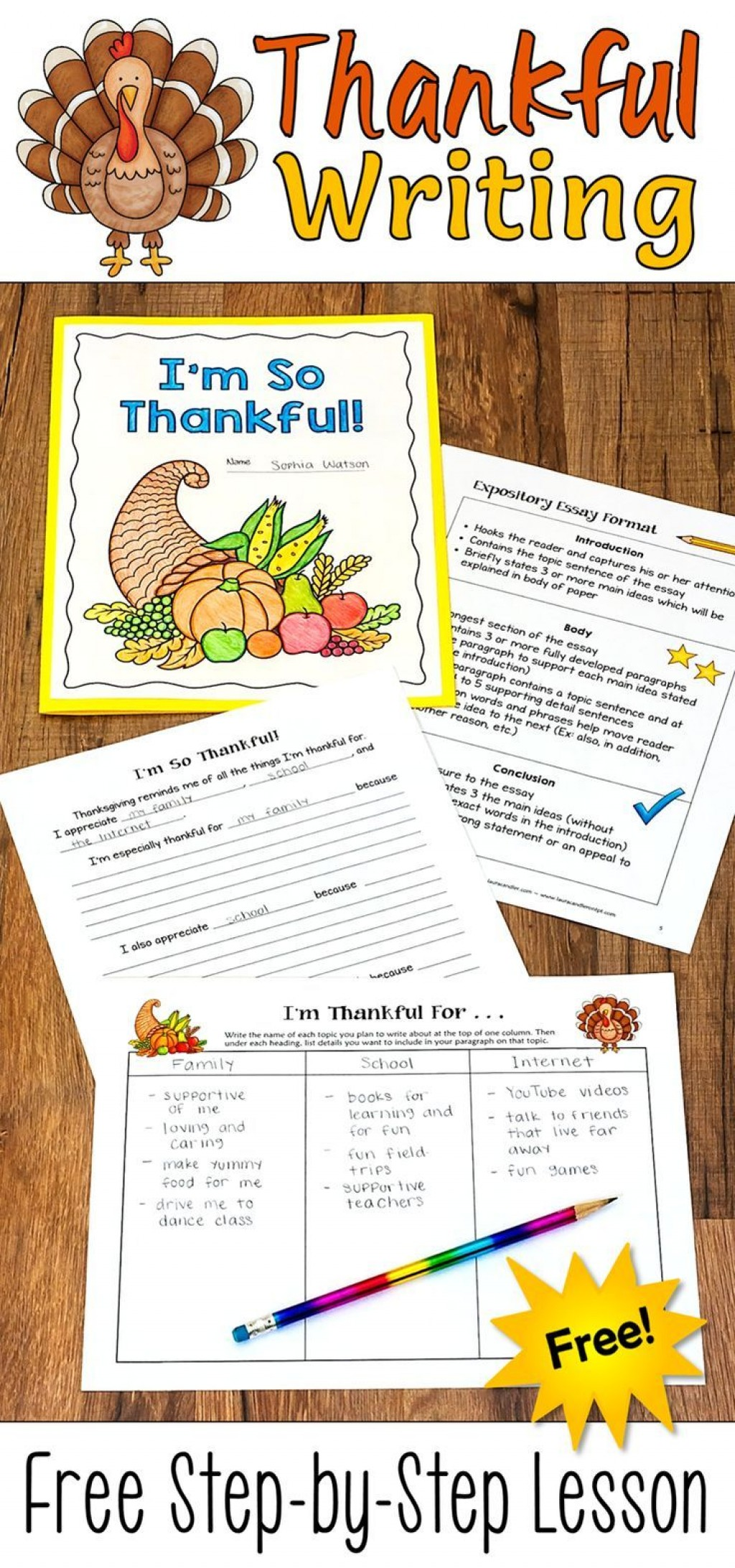 009 Thanksgiving Essay Example Fantastic Ideas For 3rd Grade Large