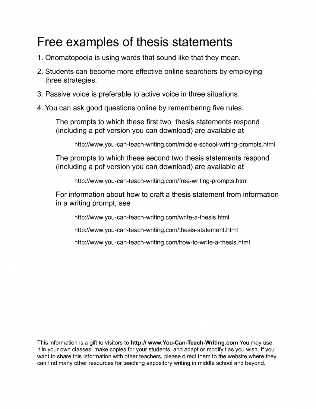 thesis statement for definition essay about write an