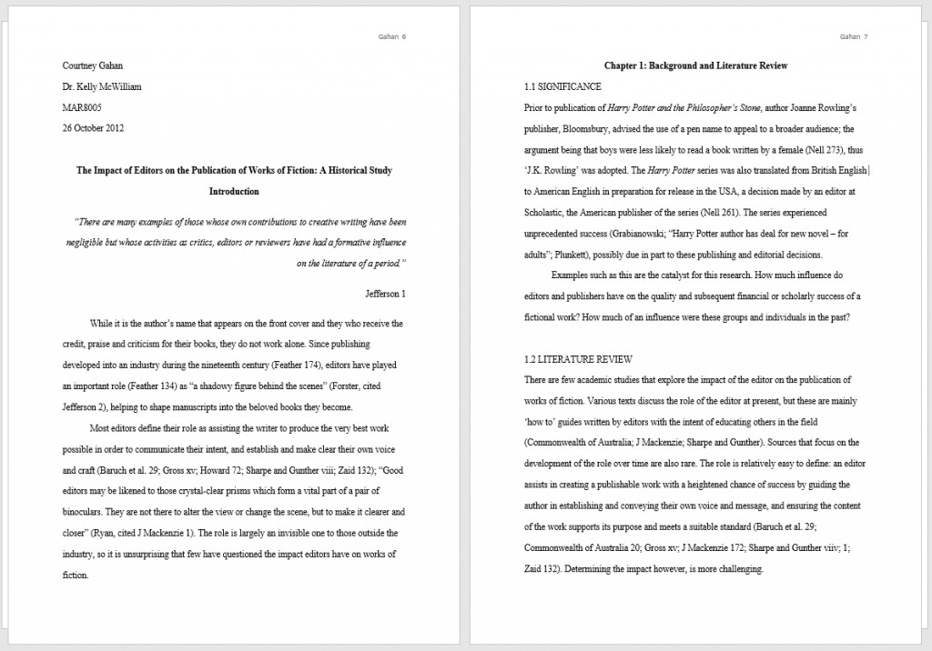 009 Thesis Two Pages Example Full Mla Formatted Phenomenal Essay Format Title Page In Text Size Large