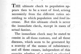 009 Thomas Malthus Essay On The Principle Of Population Stupendous After Reading Malthus's Principles Darwin Got Idea That Ap Euro