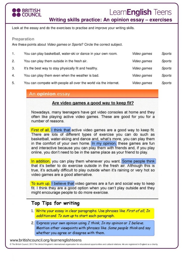 009 Writing Skills Essay Online Ielts Courses Podcast Jc Economics How To Write An Opinion 4th Grade Anopinionessay Exercises Thumbn Unbelievable 3rd College 728