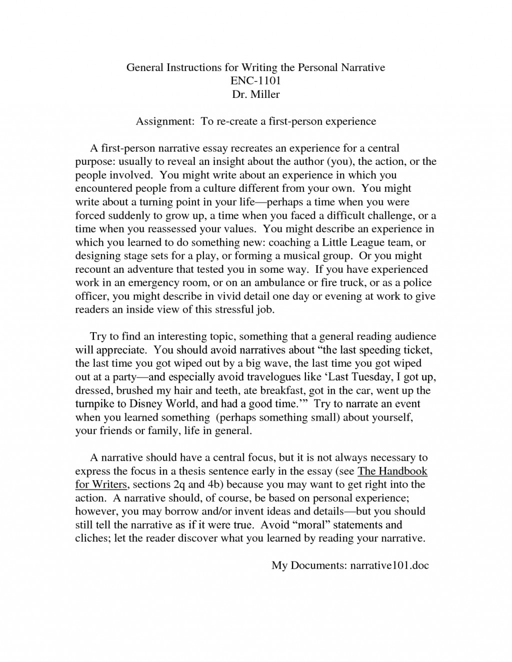 009 Zgup350miv Essay Example Of Imposing A Narrative About Family Vacation Introduction Large