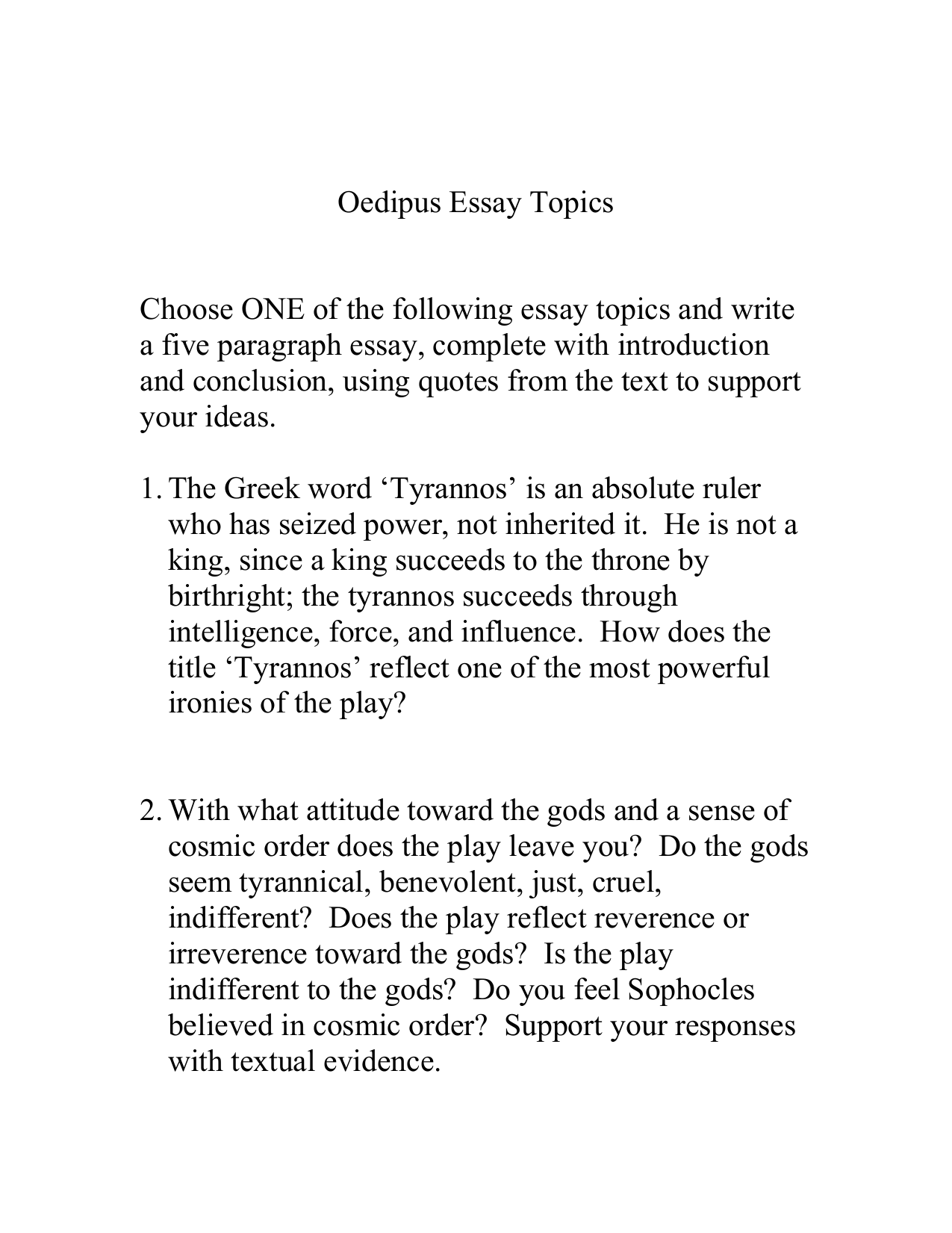 010 010776288 1 Essay Example Oedipus Rex Exceptional Topics Prompts The King Paper Full