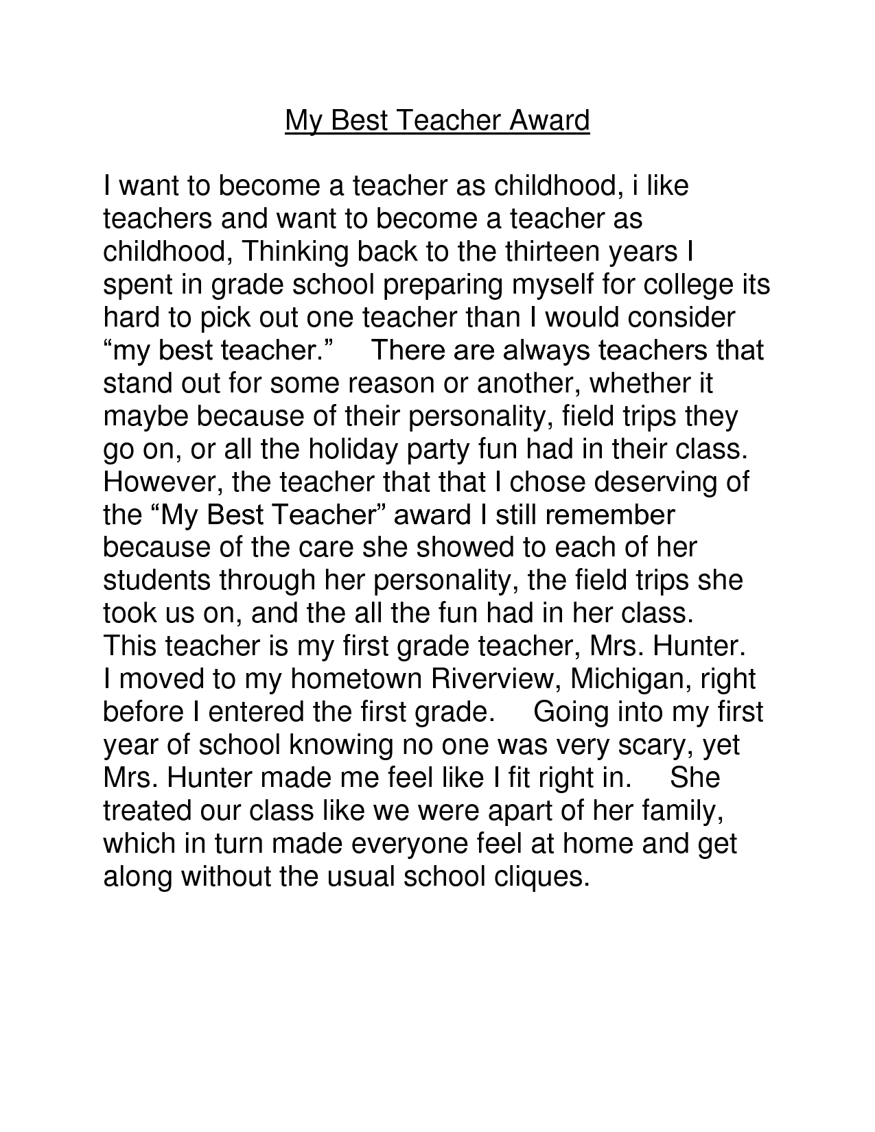 010 3819916770 My Hero English Essay An About Fascinating Heroine Teacher 500 Words A Narrative Full