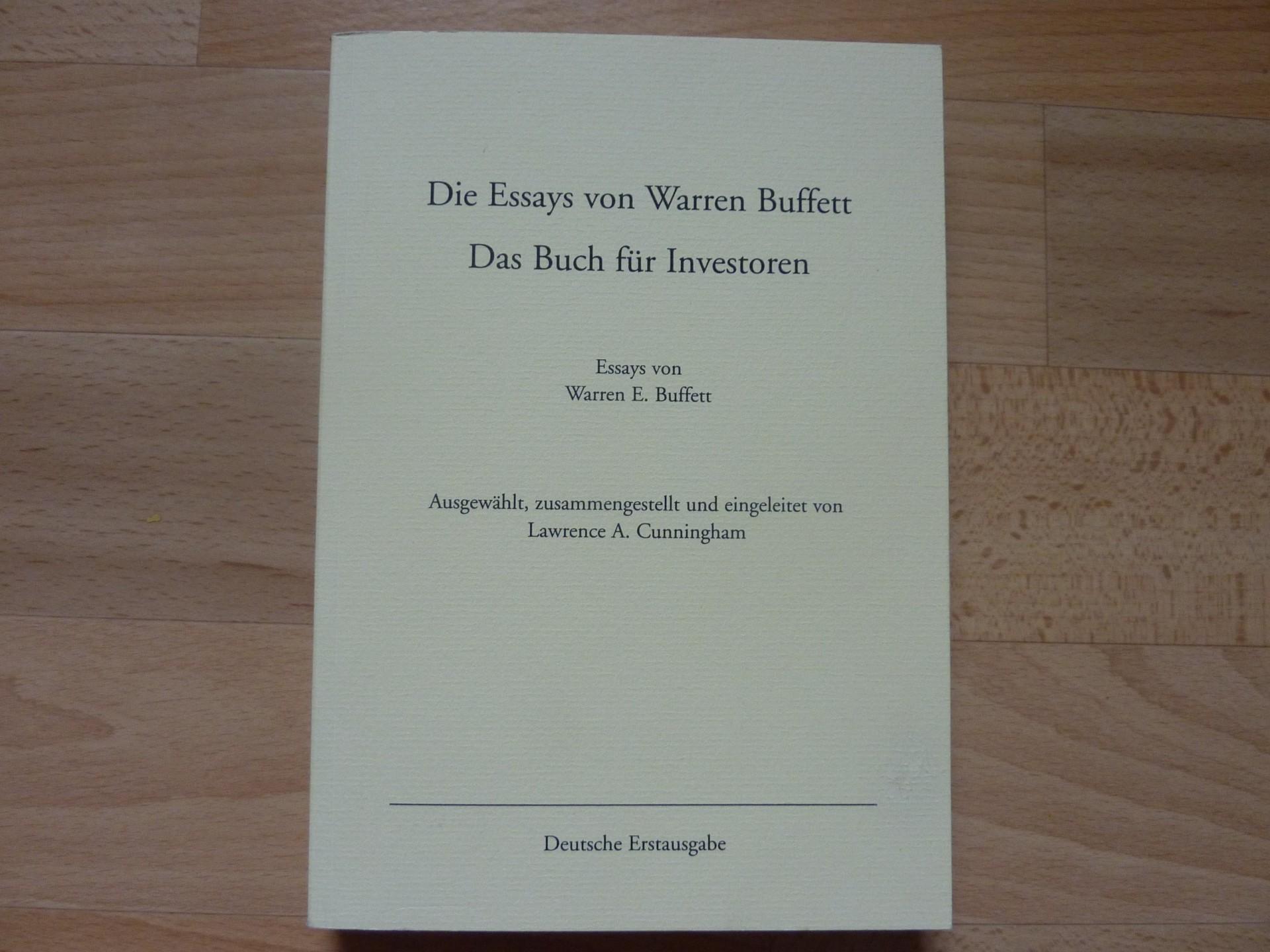 010 9152otplypl Essay Example Die Essays Von Warren Archaicawful Buffett Pdf 1920