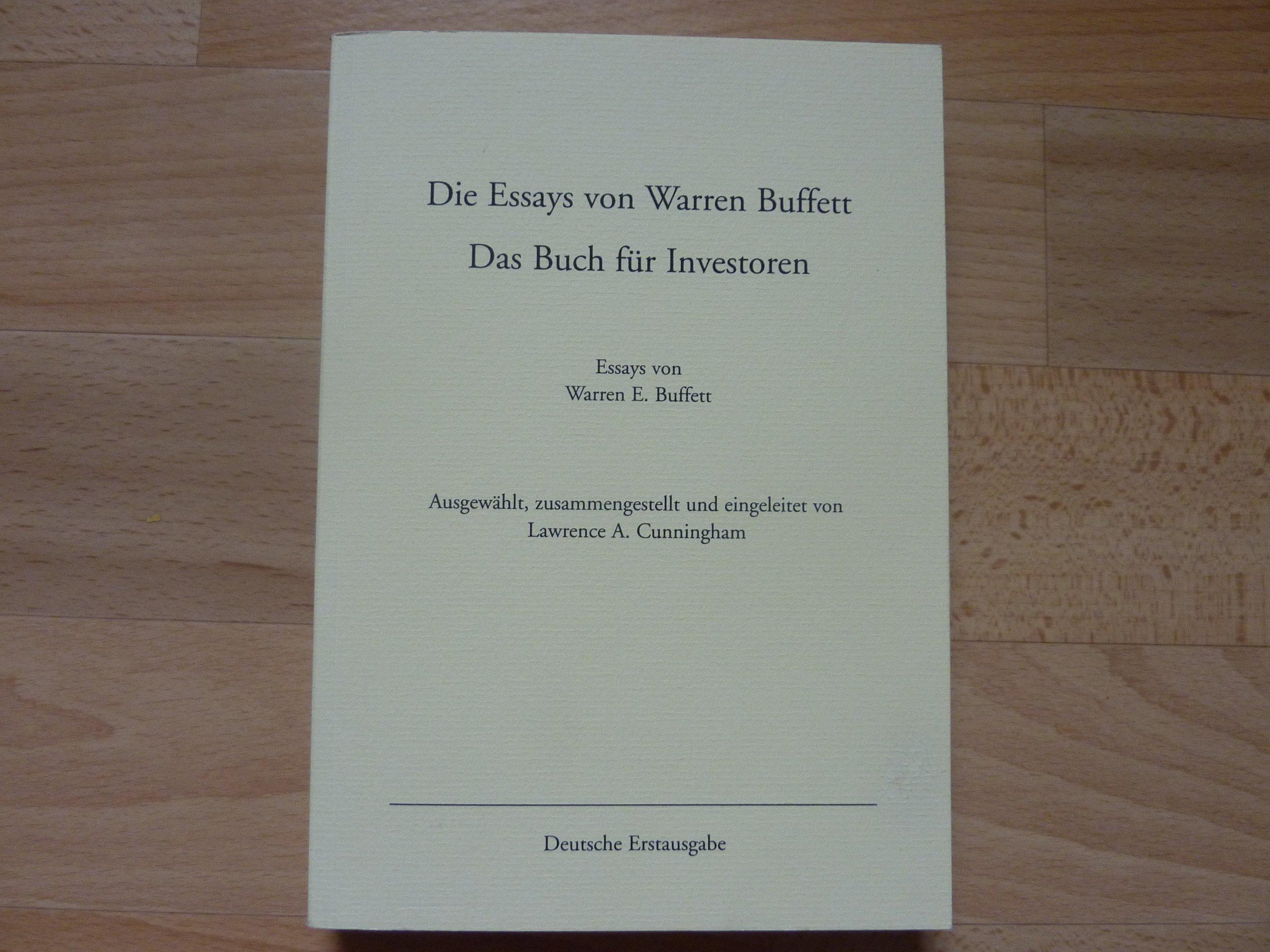 010 9152otplypl Essay Example Die Essays Von Warren Archaicawful Buffett Das Buch Für Investoren Pdf Und Unternehmer Full