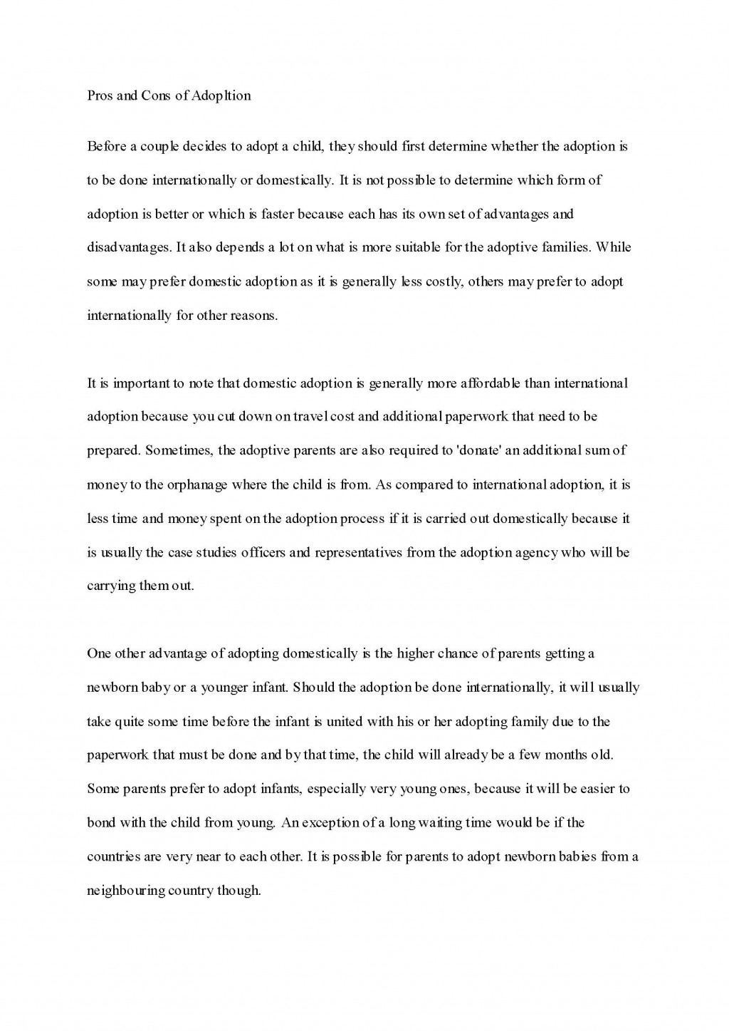 010 Adoption Essay Sample High School Admission Essays Unusual Free Example Large