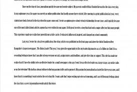 010 Alexa Serrecchia Essay Example Profile Examples On Surprising A Place