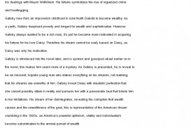 010 American Dream Essay Example Gatsby And The Unique Conclusion Thesis Great 320