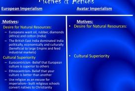010 Avatar Imperialism Essay Motives26actionsavatarimperialismeuropeanimperialismmotives3a Stirring