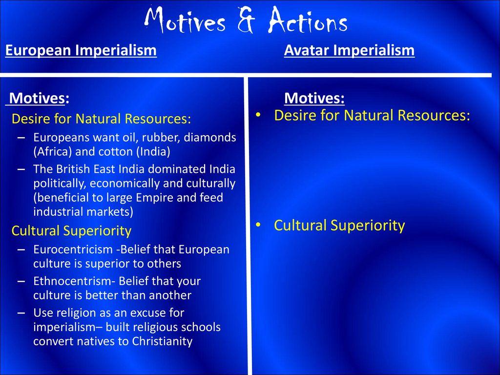 010 Avatar Imperialism Essay Motives26actionsavatarimperialismeuropeanimperialismmotives3a Stirring Full