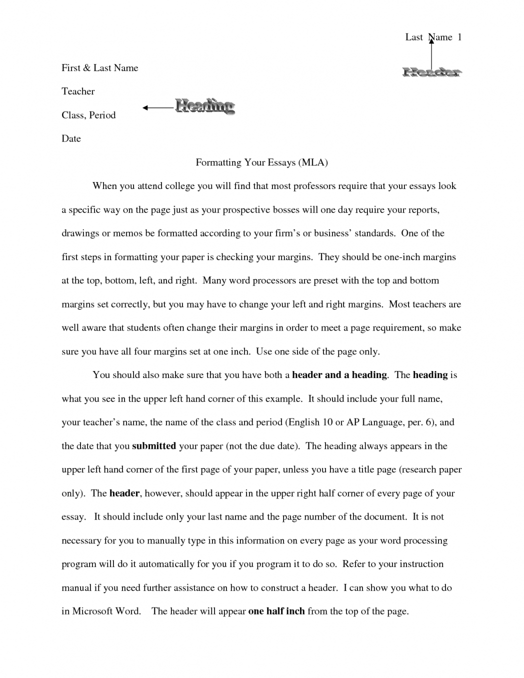 010 College Essay Header Example Heading Format Mersn Proforum Co Ideas Collection Formatting Templates Zigy Perfe Admission Application Archaicawful Margins Full
