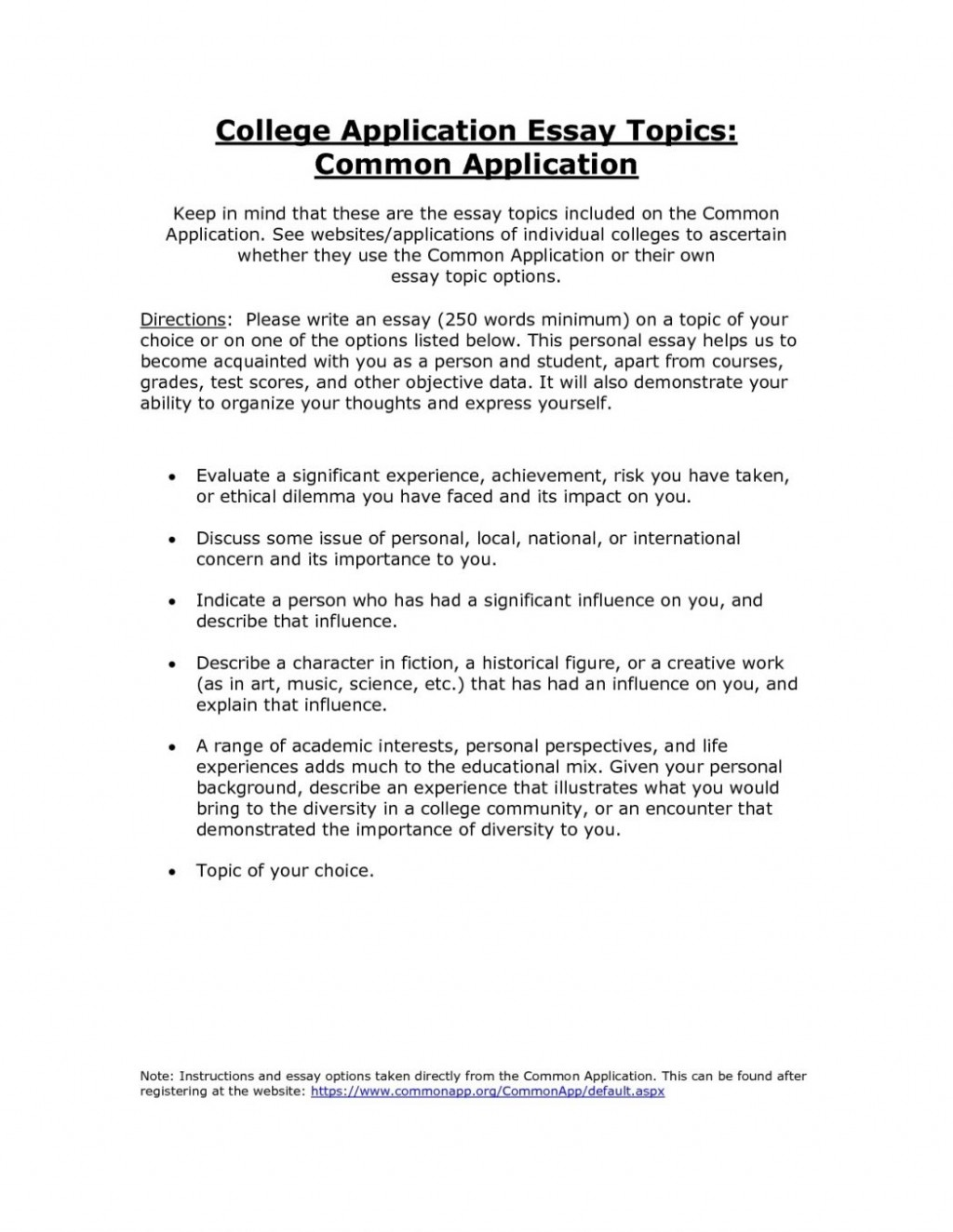010 Common Application Essay Format Revive210618 Com College Examples Commonapp Ecza Solinf Co Texas Essayss Admission Topics Length 1048x1356 Example App Unusual Prompt 6 1 Sample Large