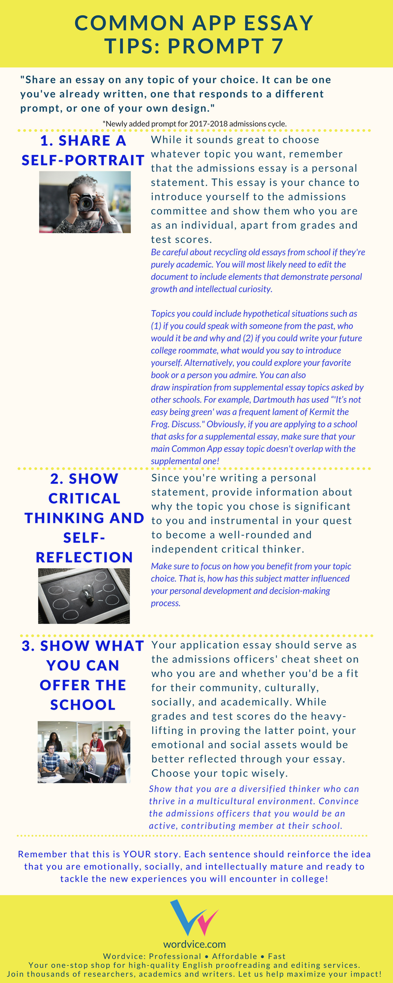 010 Common Application Essay Prompts Example App Brainstormprompt Best 2017 Examples Full