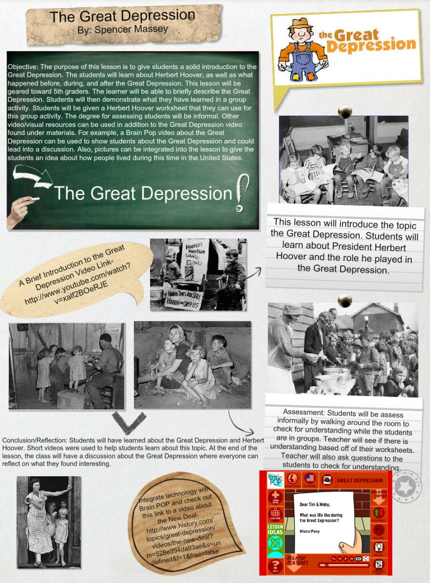 010 Conclusion Of The Great Depression Essay Example Amazing 868