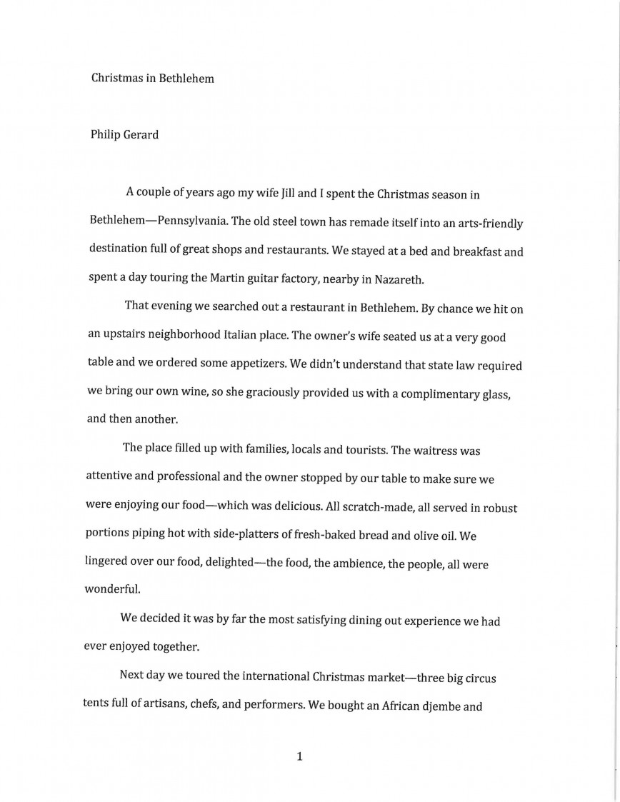 010 Essay About Friendly Example Bethlehem 1 Stupendous Eco- Environment Child School 868