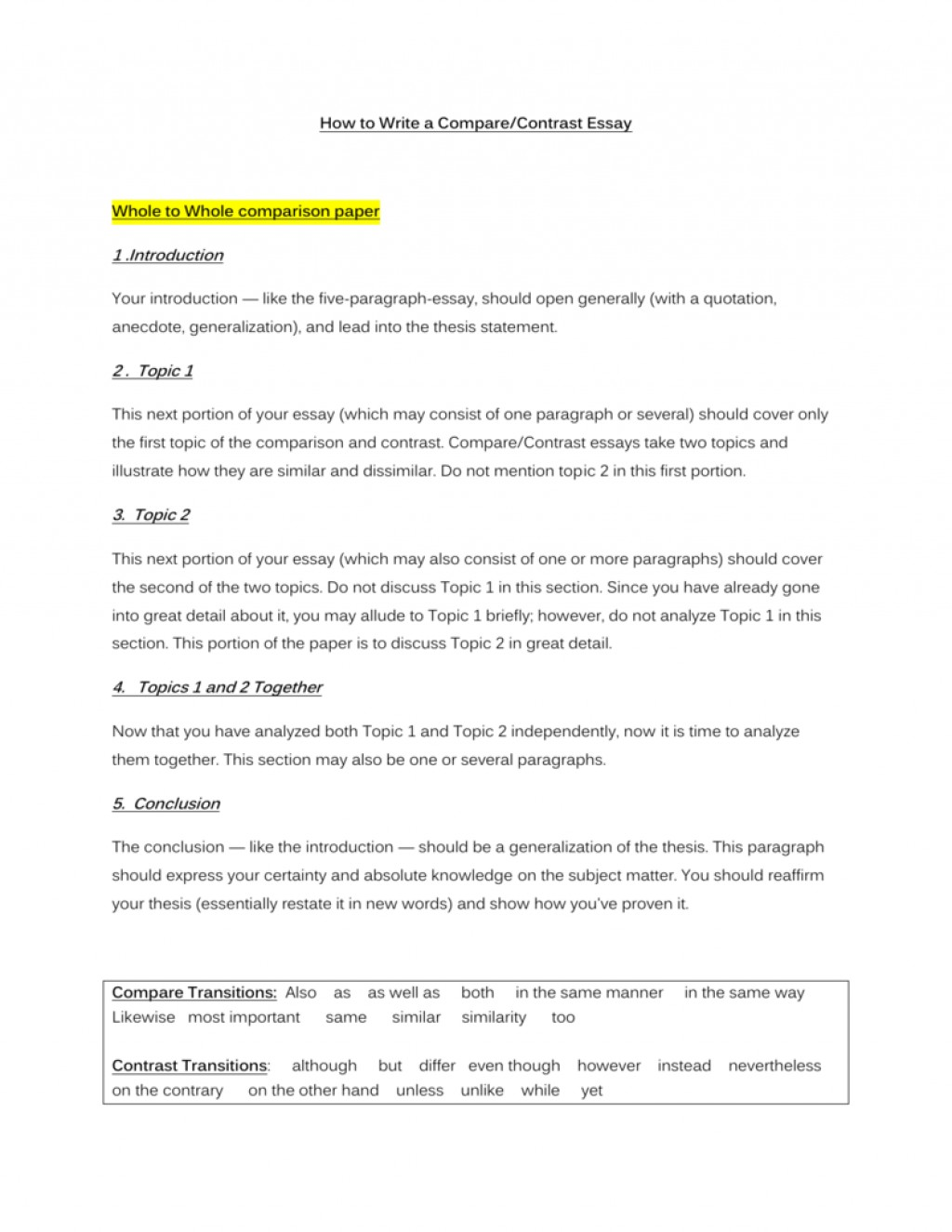 010 Essay Example 006842759 1 Compare And Contrast Top Intro Introduction Paragraph Sample Large