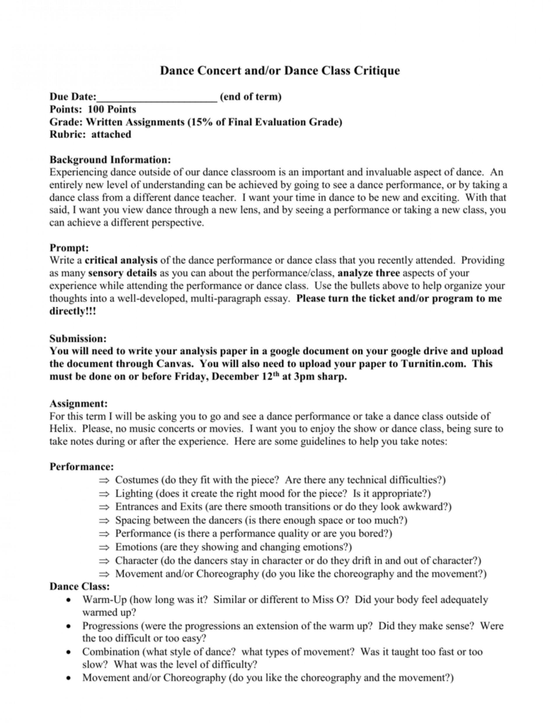 010 Essay Example 008002751 1 Frightening Dance Jazz Topics Scholarships Conclusion 1920