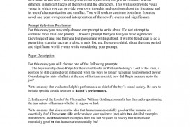 010 Essay Example 008010835 1 Lord Of The Flies Unusual Symbolism Beast Imagery