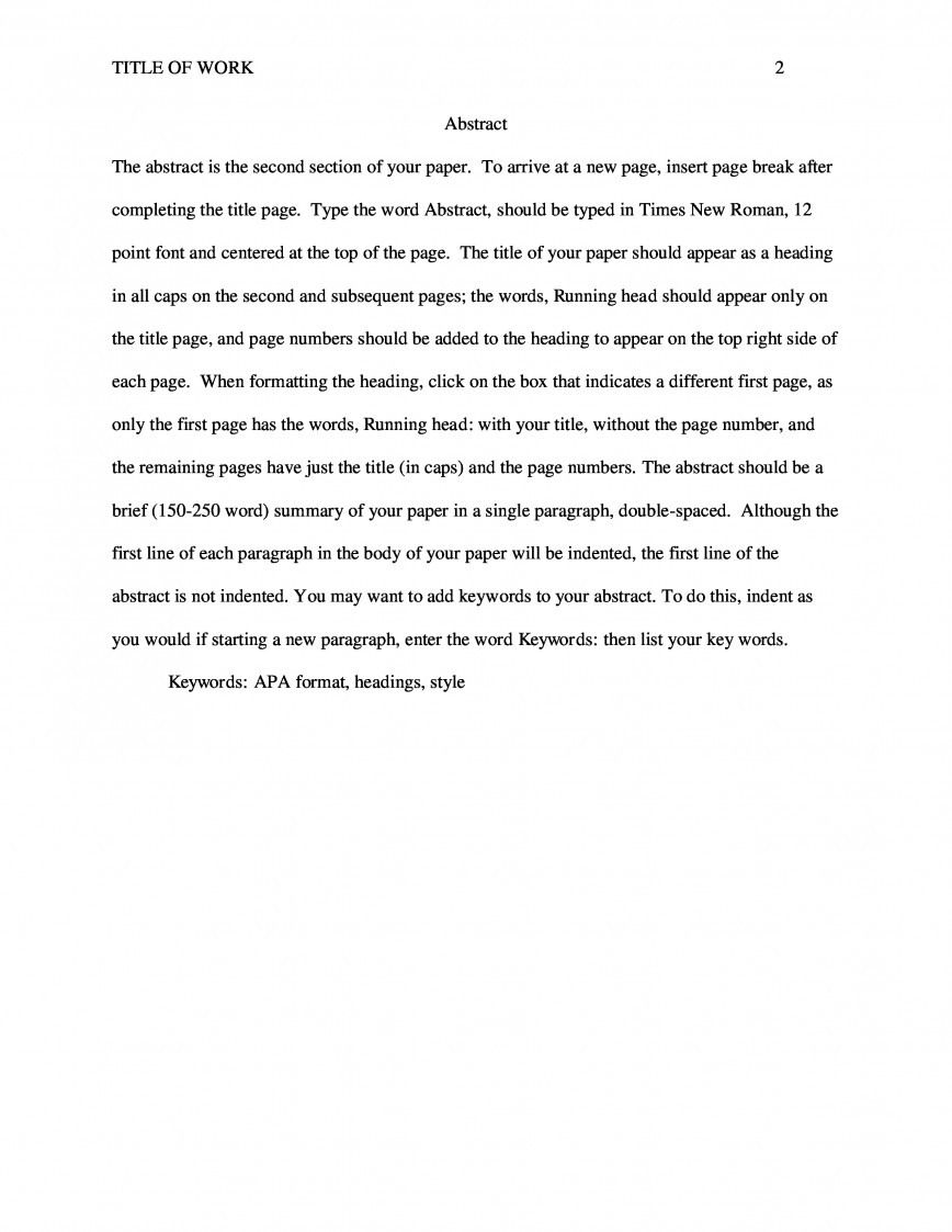 010 Essay Example Apa Sample Paper Scf Page Awful Abstract Extended Informative