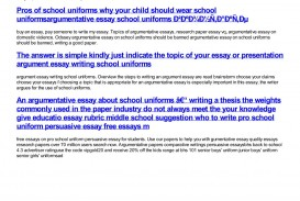 010 Essay Example Argumentative About School Breathtaking Uniforms Introduction On Should Be Banned Outline