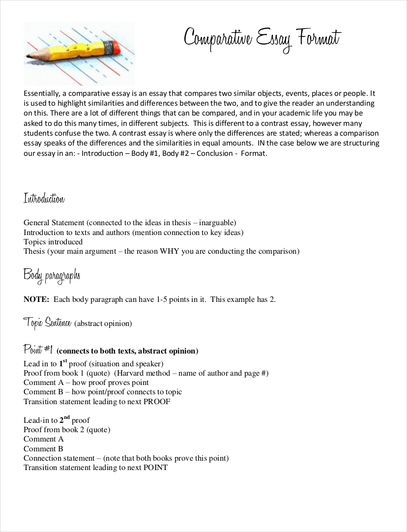 010 Essay Example Comparative Samples Free Pdf Format Download How To Write Poetry Introduction Sample Fo Contrast Vce Incredible A Comparison Compare Thesis Full