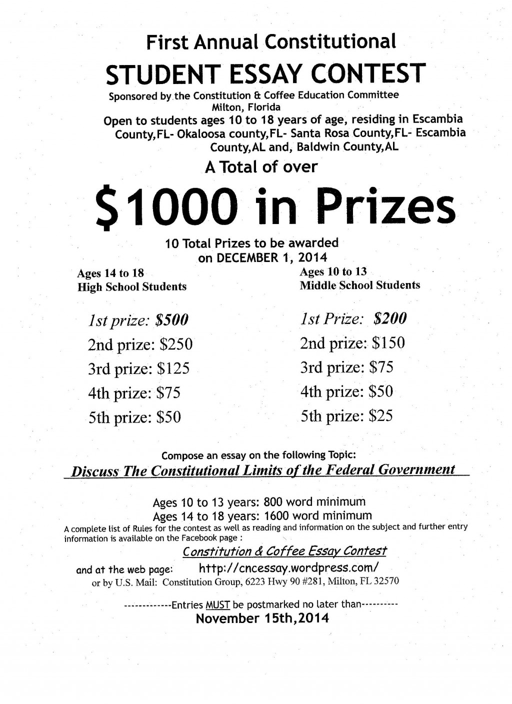 010 Essay Example Contest Flyer Jpeg Buy Outstanding Uk Law Cheap Large