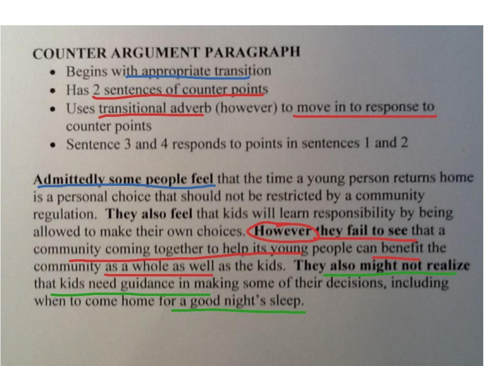 010 Essay Example Counter Beautiful Argument Examples Persuasive Sample 1920
