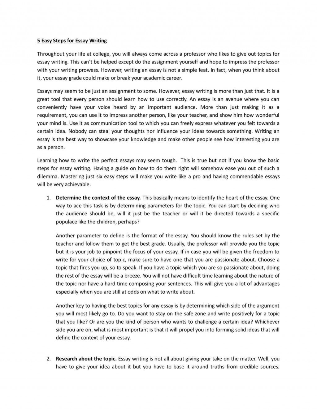 010 Essay Example Easy Way To Write An Excellent Argumentative How Analytical In Ielts Task 2 Large