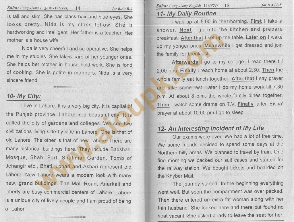 010 Essay Example English Essays For Aiou Unique Daily On Routine Of Housewife June 21 My Life Large
