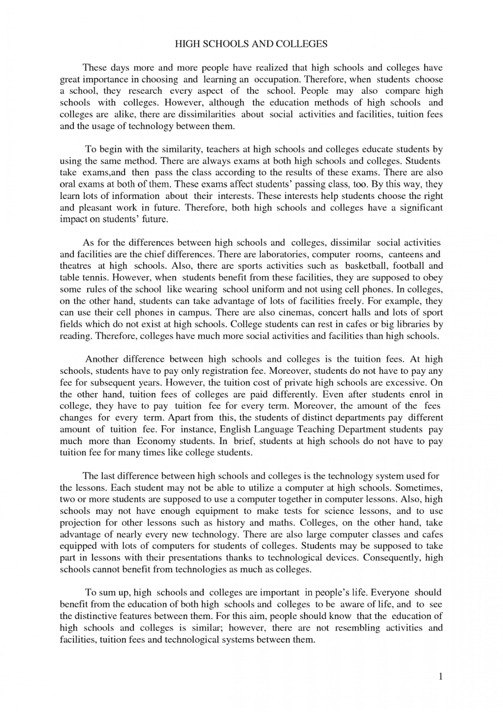 010 Essay Example Informative Examples For High Marvelous School Pdf 1920