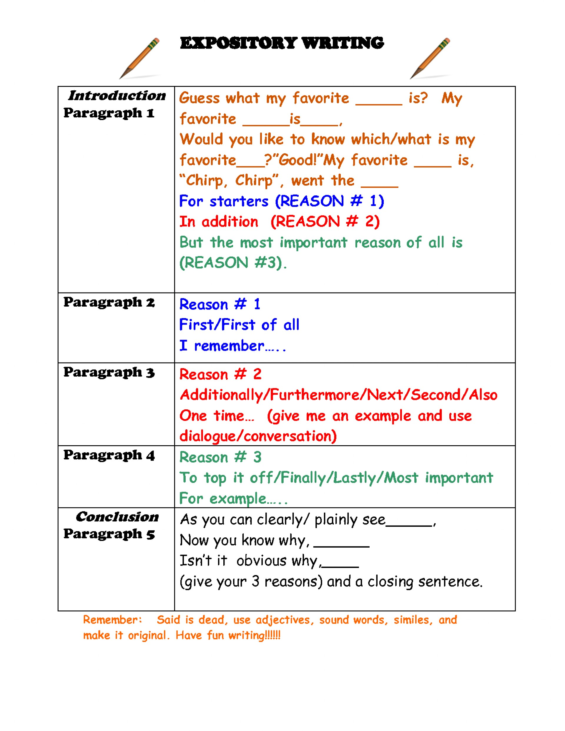 010 Essay Example Informative Graphic Fascinating Organizer Free Informational Pdf 6th Grade 1920