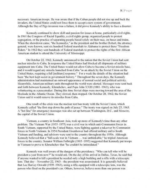 010 Essay Example Interview Jfkmlashortformbiographyreportexample Page 3 Shocking Examples Mla Format Profile Apa 480