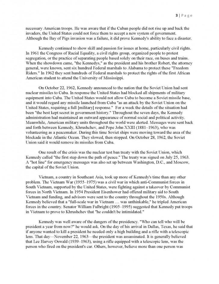 010 Essay Example Interview Jfkmlashortformbiographyreportexample Page 3 Shocking Examples Mla Format Profile Apa 728