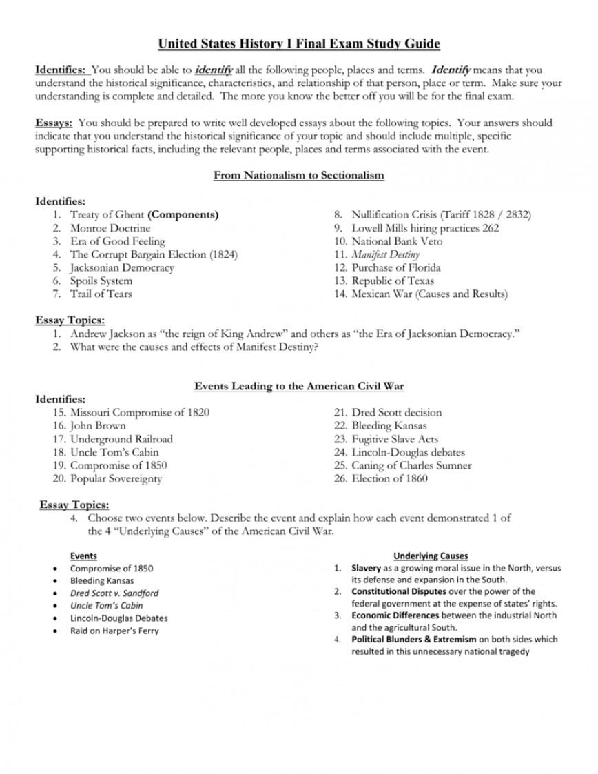 010 Essay Example Manifest Destiny 008013594 1 Impressive Prompt Conclusion Apush