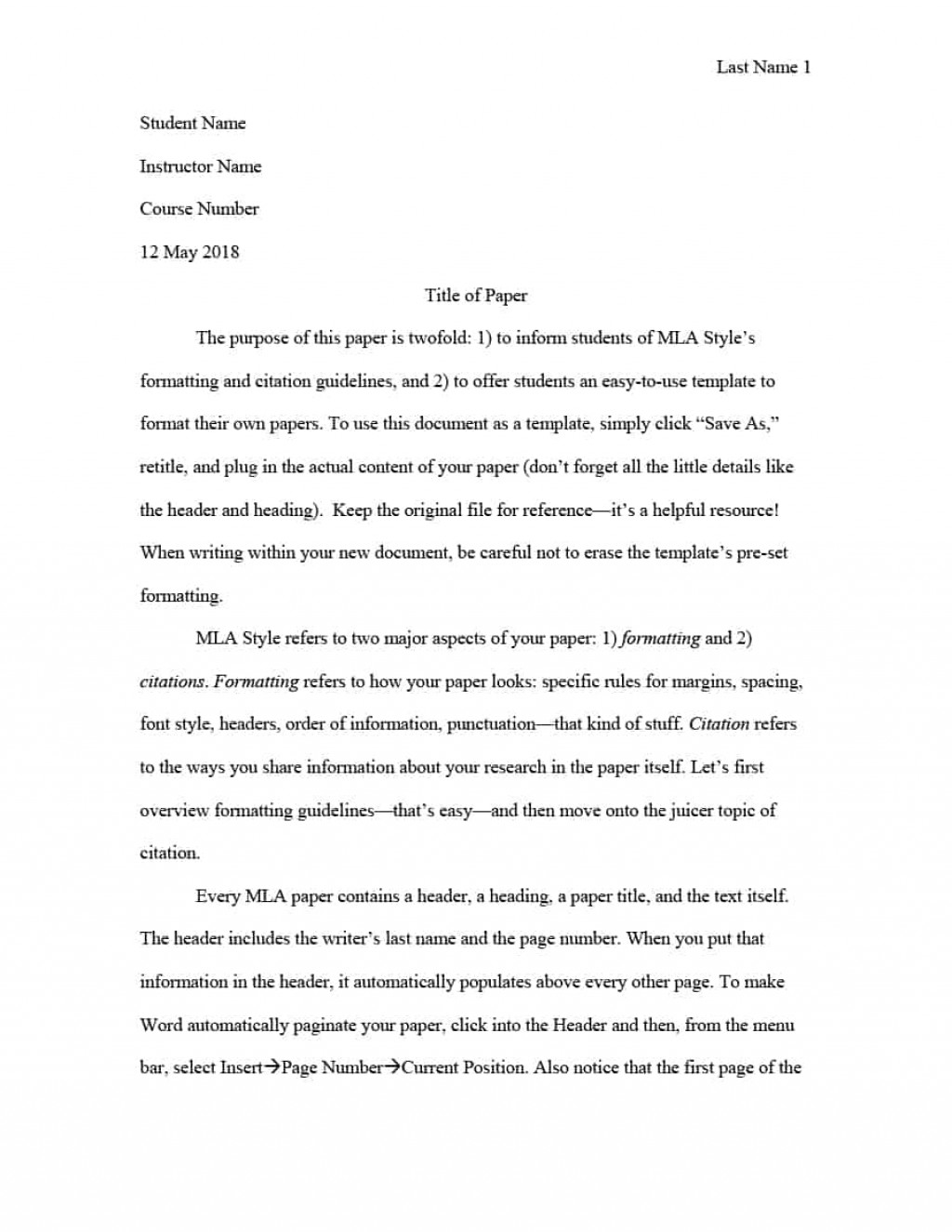 010 Essay Example Mla Format Template Phenomenal Formatted Title Page In Text Size Large