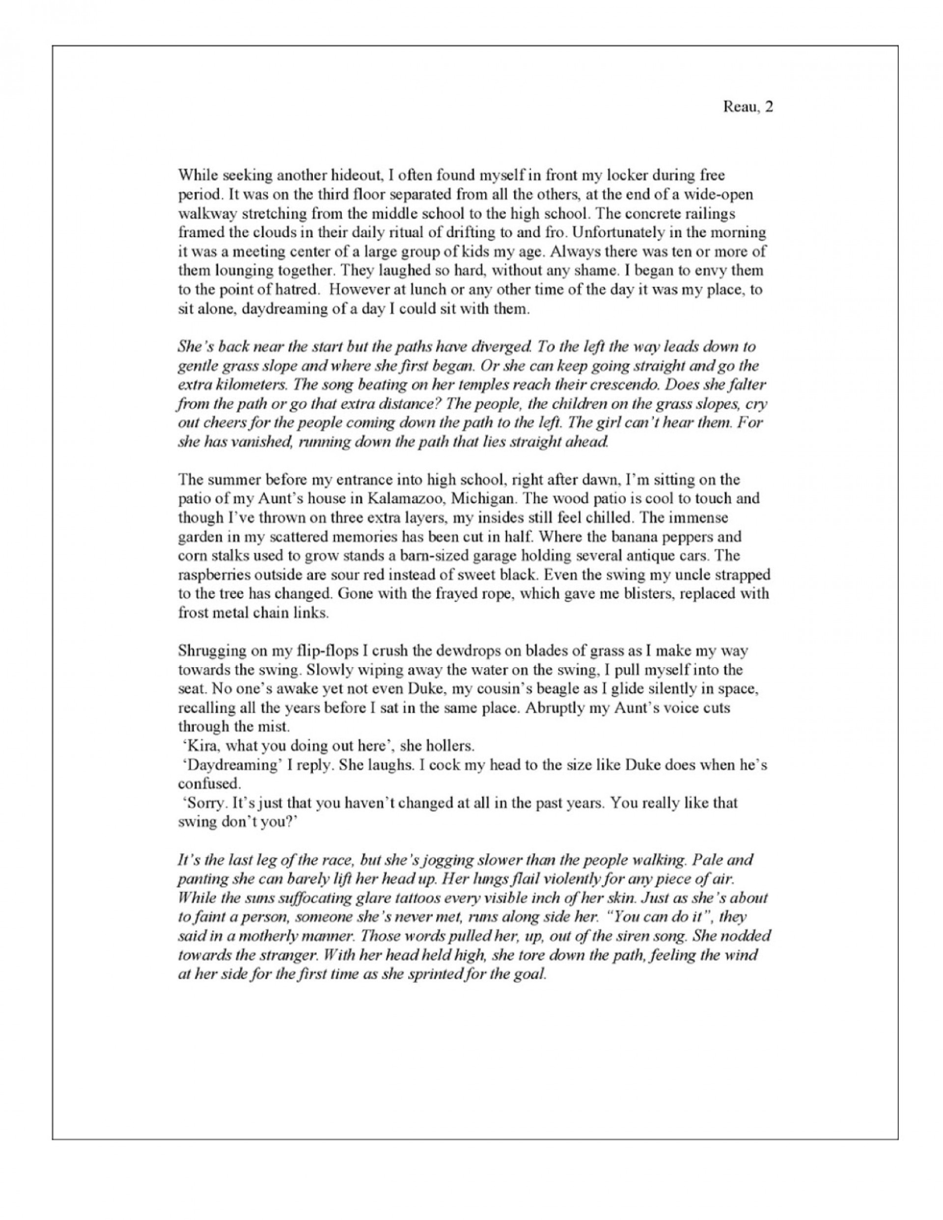 010 Essay Example Narration The Life Of A Misanthrope Unbelievable Narrative Format College Outline Pdf 1920