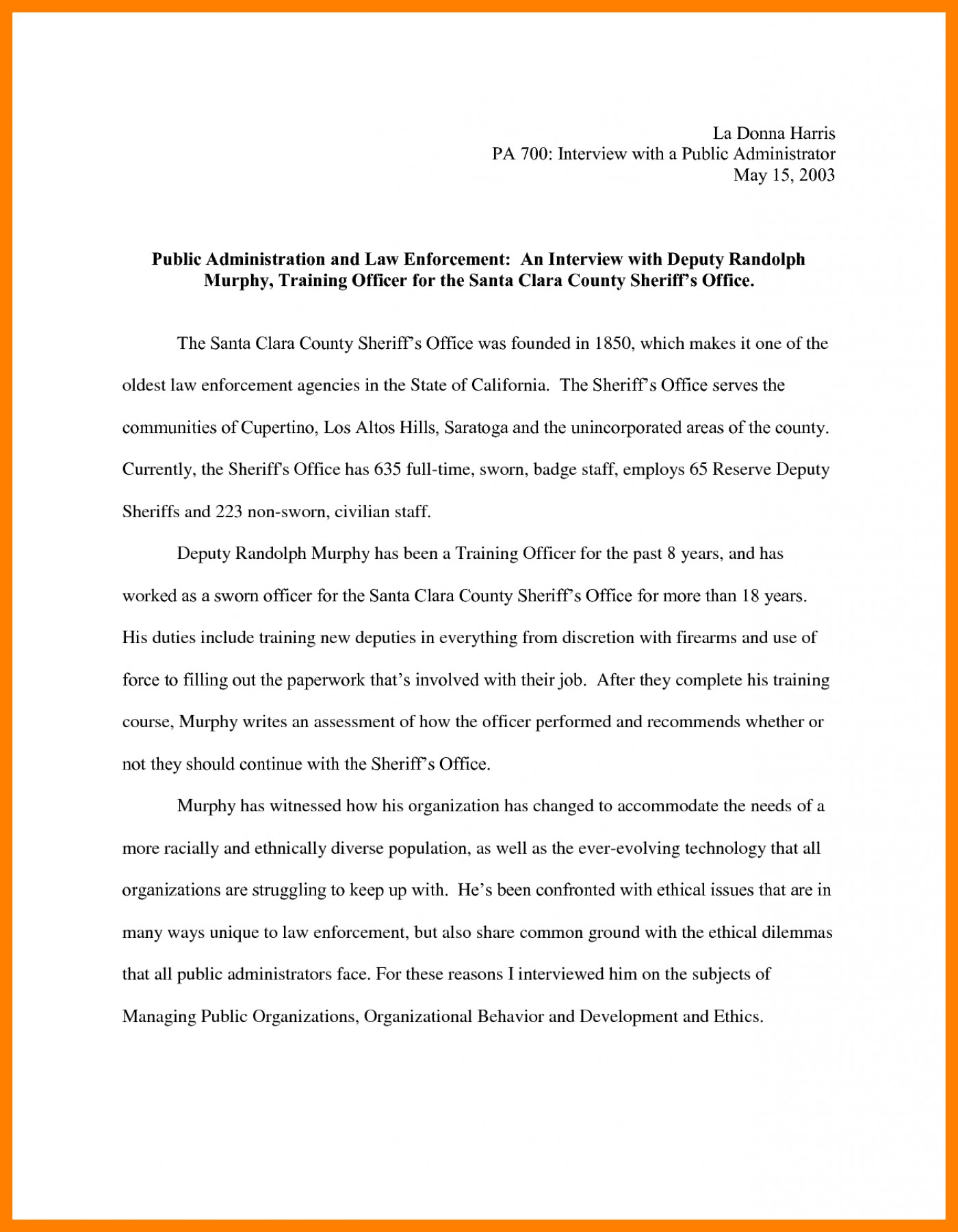 010 Essay Example Narrative Interview Writing An 308901 Exceptional Outline First Job 1400