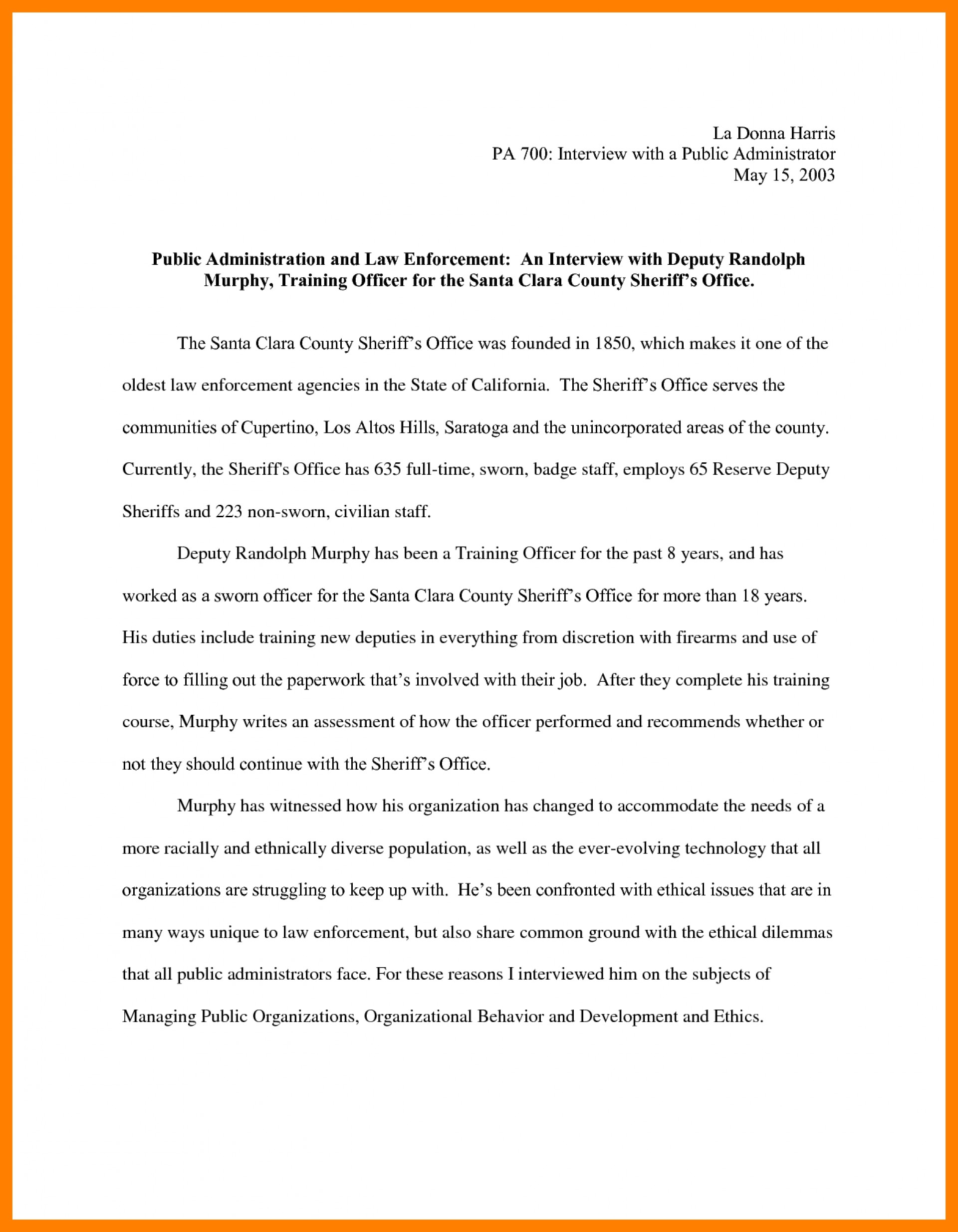 010 Essay Example Narrative Interview Writing An 308901 Exceptional Outline First Job 1920